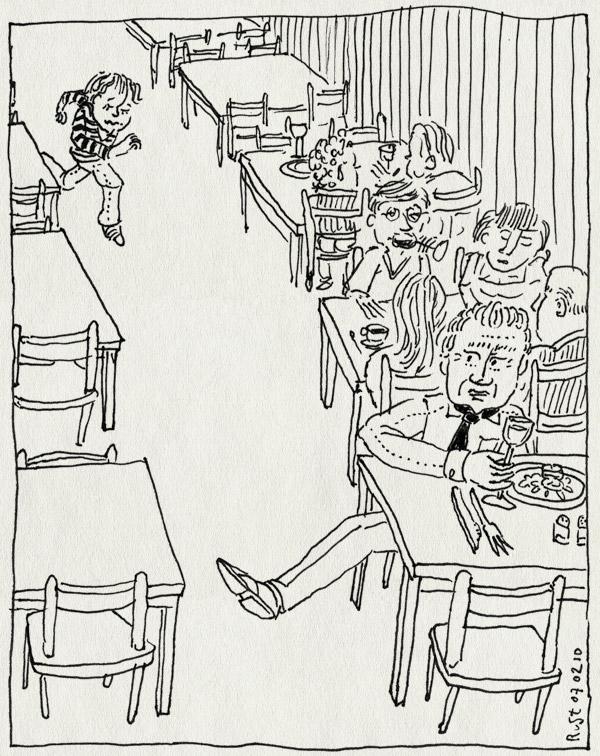 tekening 997, grens, janine, kind, kinderhater, klootzak, man, midas, plancius, pootje haken, probleem, rennen, restaurant, tolerantie