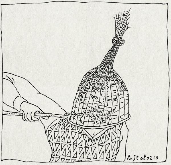 tekening 998, catch, net, self, vangen