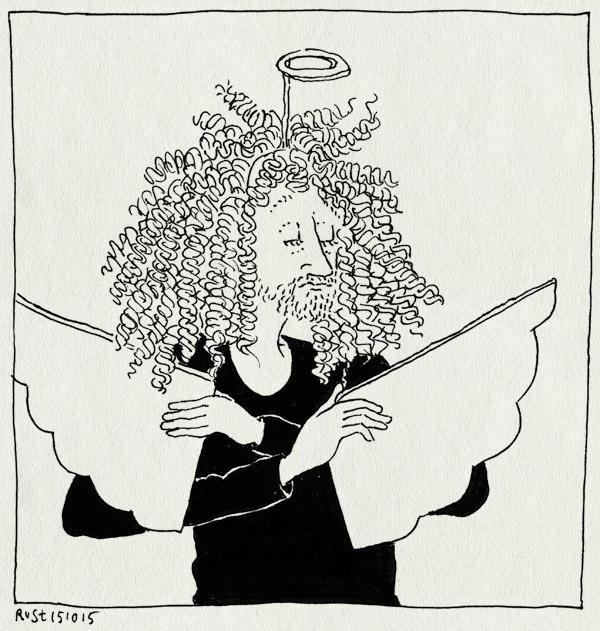 tekening 2700, drag me to hell, engel, floor, kostuum, maaike, pruik, vleugels