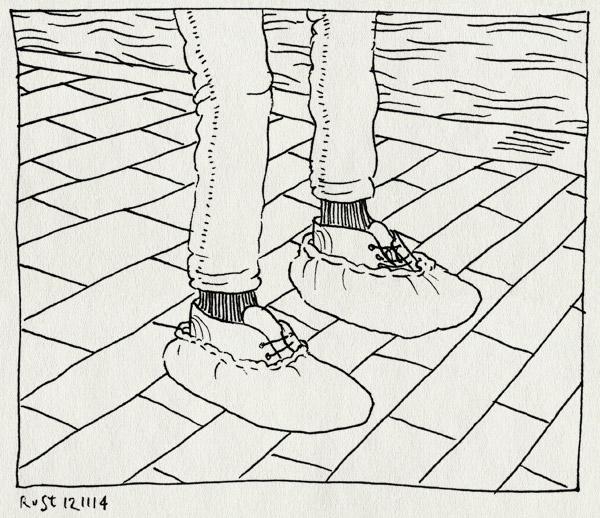 tekening 2728, blauw, schoenbeschermers, schoenen, schoenhoezen, sokken, water, zwembad, zwemles