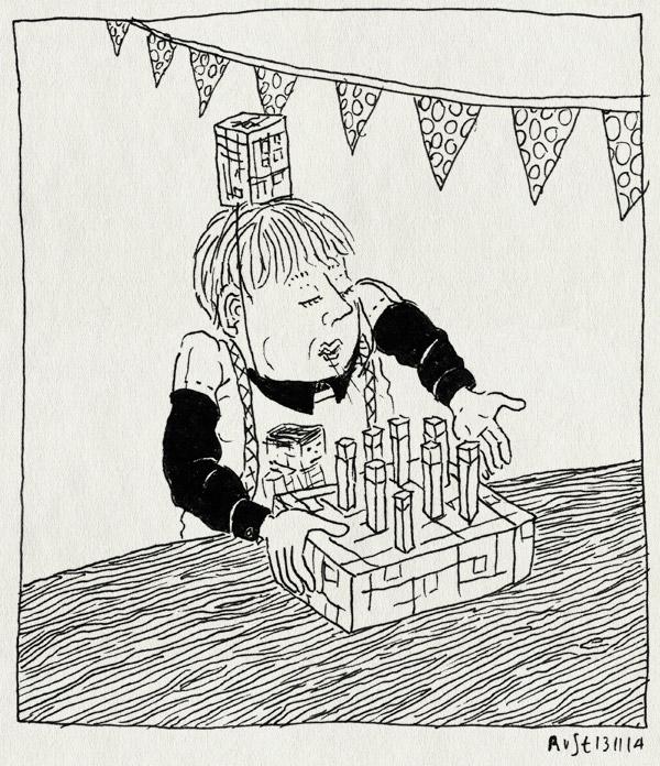 tekening 2729, 8, jarig, midas, minecraft, taart