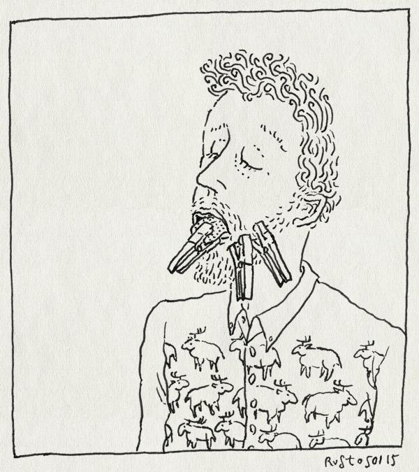 tekening 2782, boren, gaatje, kies, knijpers, tandarts, tond, verdoving, wang