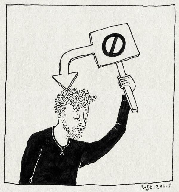 tekening 2789, bordje, demonstratie, gedoe, jenesuispascharlie, jesuischarlie, slogan, verboden