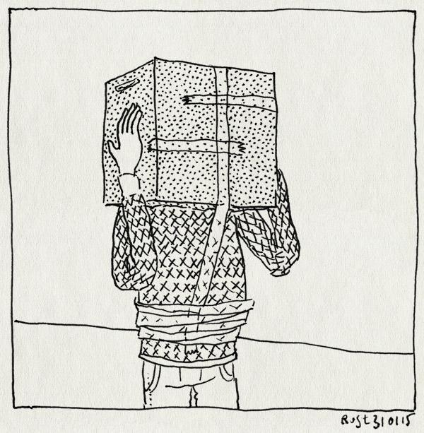 tekening 2808, arjen, begin, blok, doos, gamen, hoofd, martine, minecraft, multiplayer, netwerk, tape, verslaafd