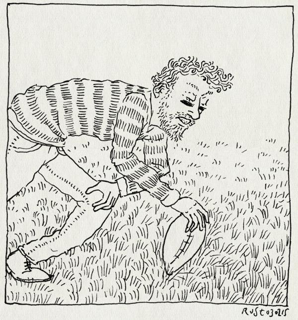 tekening 2811, bitje, burorust, occhio, rugby, scrum, werk