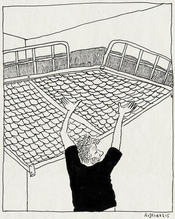tekening 2822, alwine, bed, hoog, hoogslaper, tillen, verbouwen
