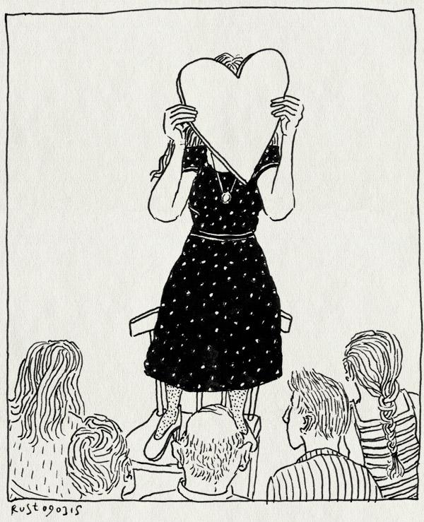 tekening 2845, boekpresentatie, de mannen van raan, goos, hart, jurk, martine de jong
