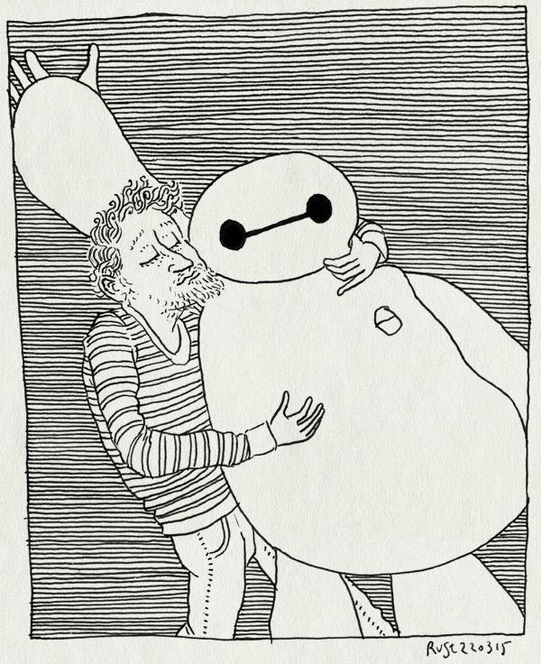 tekening 2858, baymax, big hero 6, film, knuffelen