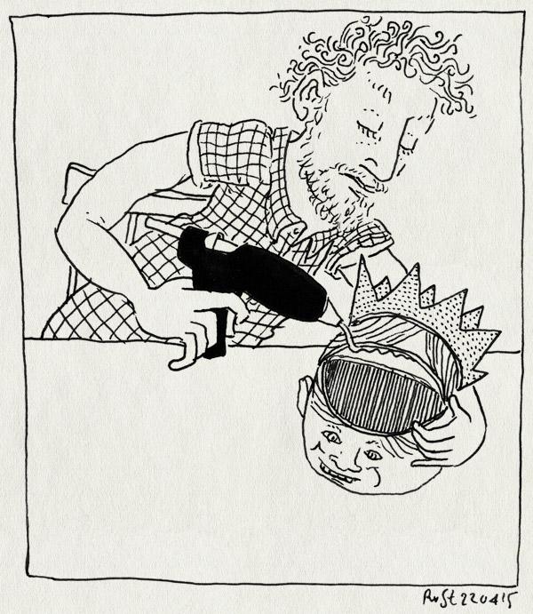 tekening 2889, dws, hoofd, knutselen, koningsdag, koningsfeest, koningsintbijt, kroon, lijmpistool, midas, ontbijt, willem-alexander