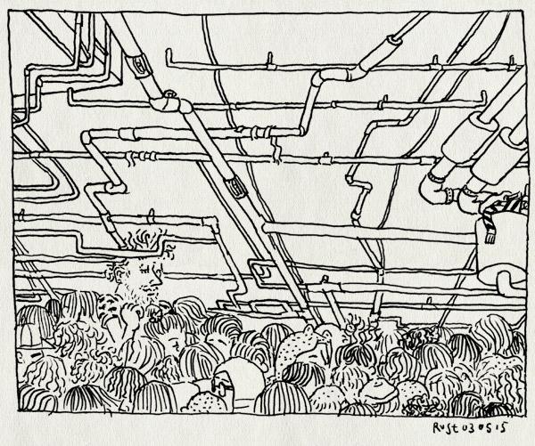 tekening 2900, berlijn, buizen, dansen, eindfeest, floor, kelder, klein, lang, maaike, pictoplasma, pictoplasma15, urban spree