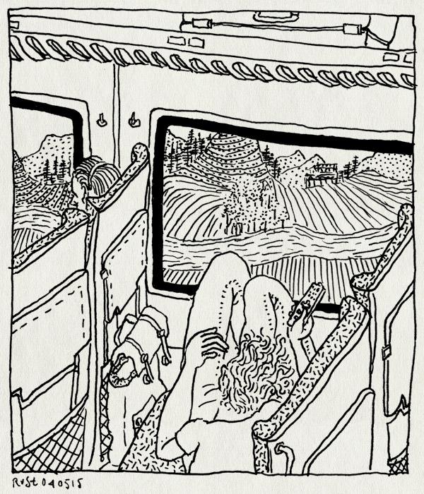 tekening 2901, berlijn, buiten, pictoplasma, pictoplasma15, terugreis, trein, uitzicht, zappen