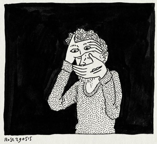 tekening 2926, emoties, gezicht, handen, mond, ogen