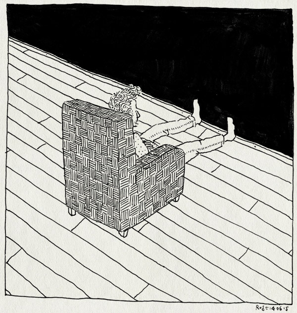 tekening 2942, bank, leeg, maasstraat, muur, stoel, thuis