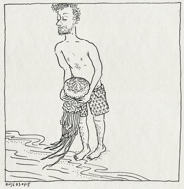 tekening 2961, bakkum, castricum, kwal, strand, zee