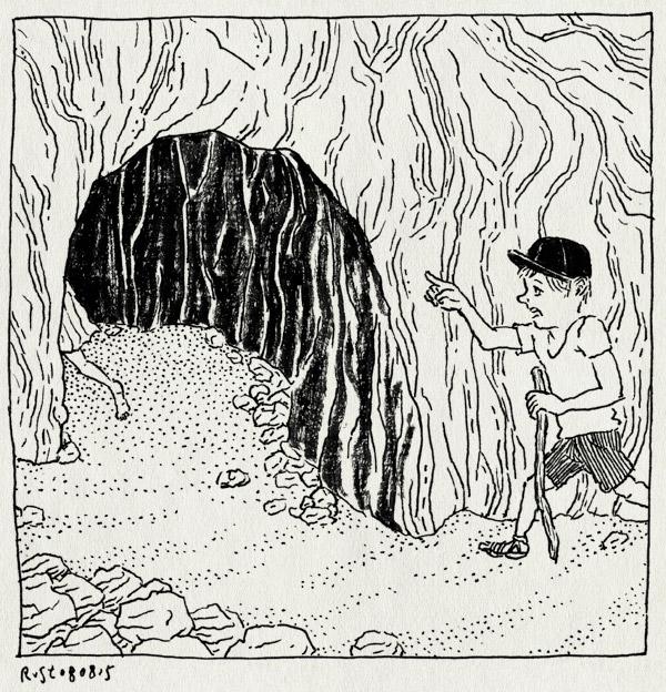 tekening 2997, camping, feeën, feeengrot, frankrijk, gezichtsbedrog, grot, grotte des fees, les jonquilles, magisch, midas, vakantie 2015, wandelen, xonrupt longuemer, zomer
