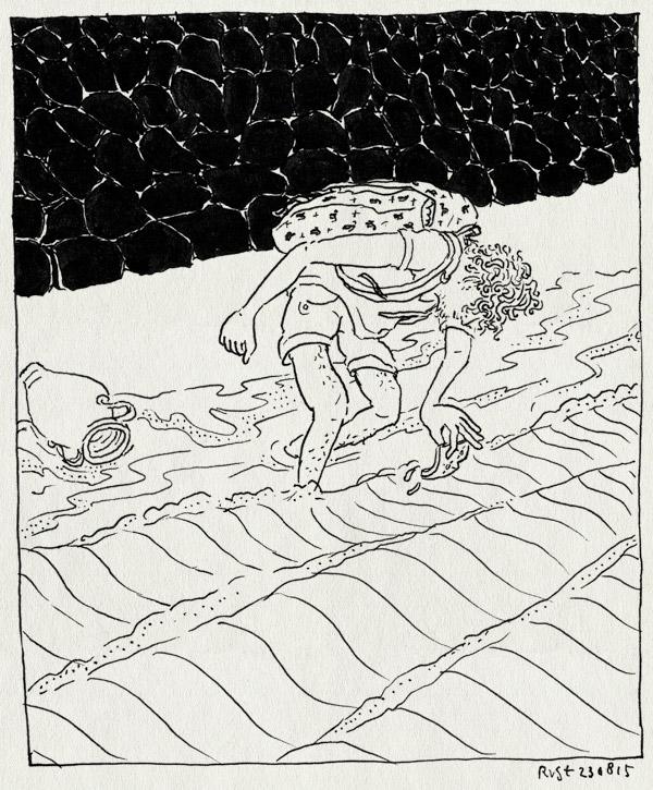 tekening 3012, amphora, iris, jutten, kust, scherf, scherven, vlieland, waddenzee, water, zee, zoeken