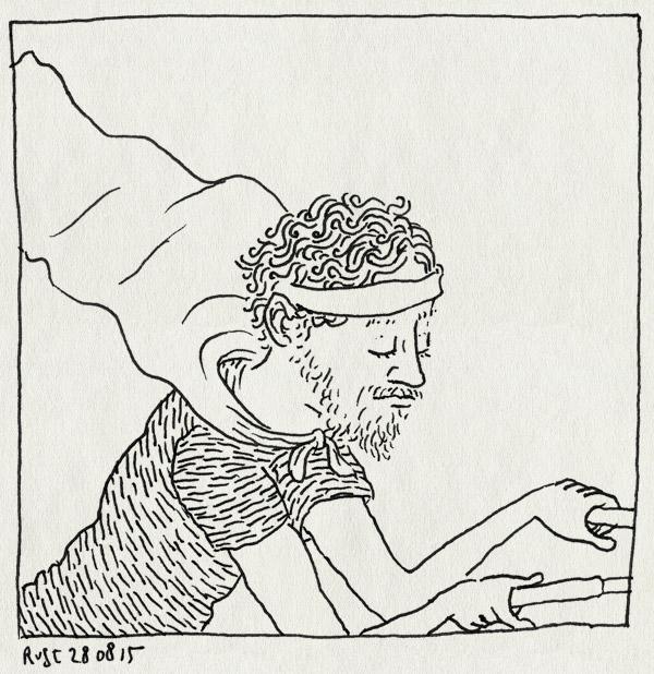 tekening 3017, fiets, haarband, held, heldenpunt