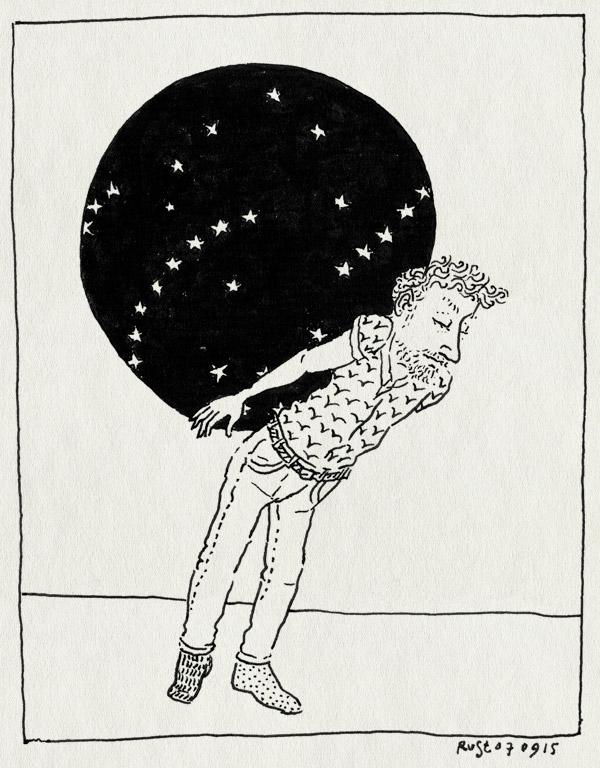 tekening 3027, atlas, dragen, hemel, koninklijk paleis amsterdam, paleis, paleis op de dam, sterren, wereldbol, zwaar
