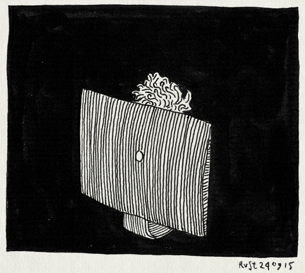 tekening 3044, burorust, donker, nacht, werk, zwart