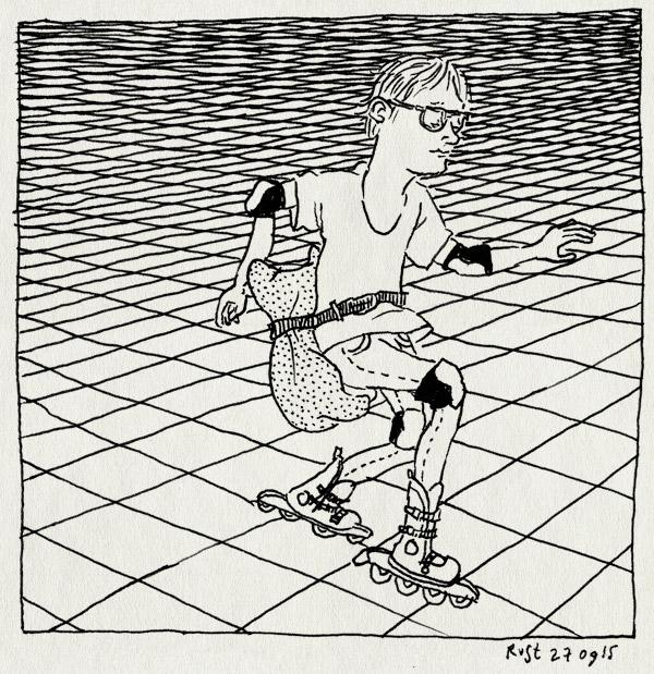 tekening 3047, bescherming, billen, inline skates, kussentje, midas, plein, riem, skaten, stootkussen, vallen