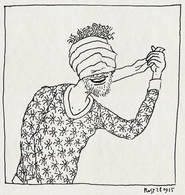 tekening 3048, beter, ingewikkeld, mummie, verband, ziek