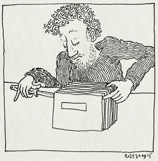 tekening 3050, achterstallig, achterstand, belastingdienst, briefopener, enveloppen, openmaken, post