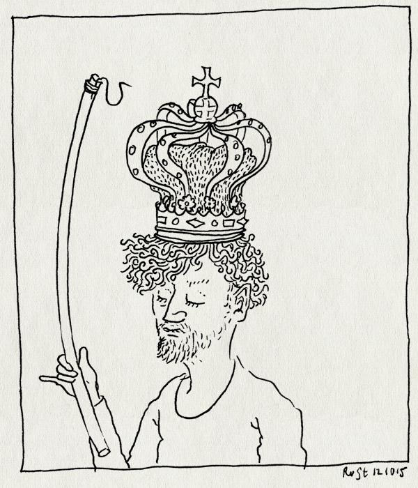 tekening 3062, haak, koning, kroon, paleis, vissen