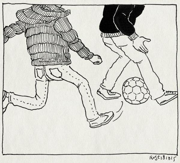 tekening 3068, hein, panna, poorten, scheveningen, tommy, vaders, voetballen