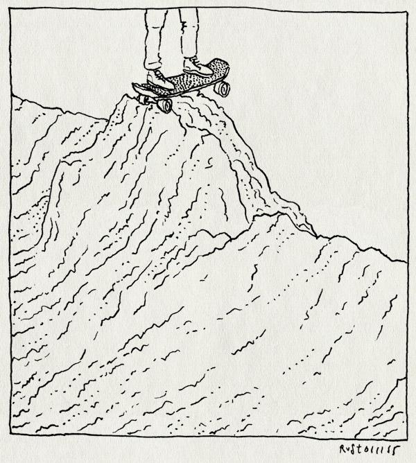 tekening 3082, berg, midas, offroad, rai, skateboard, skaten, vliegerveldje, zand, zandhoop