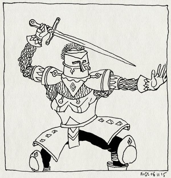 tekening 3087, cadeau, cursus, iris, ridder, verjaardag, workshop, zwaard, zwaardvechten