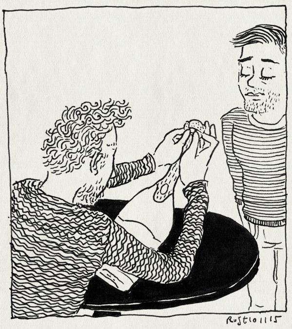 tekening 3091, champagne, floor, maaike, opdracht, paleis, peniscollectief, vieren