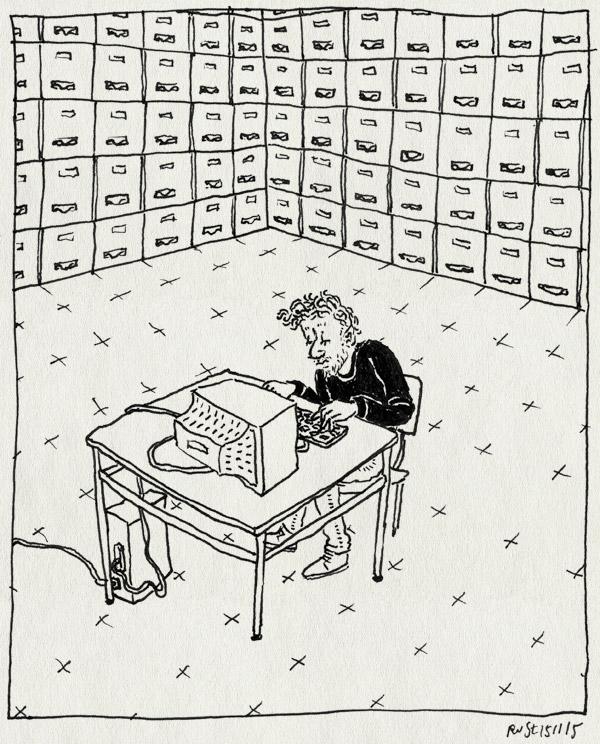 tekening 3096, archief, computer, film, god, iris, le tout nouveau testament, springhaver, tafel, utrecht