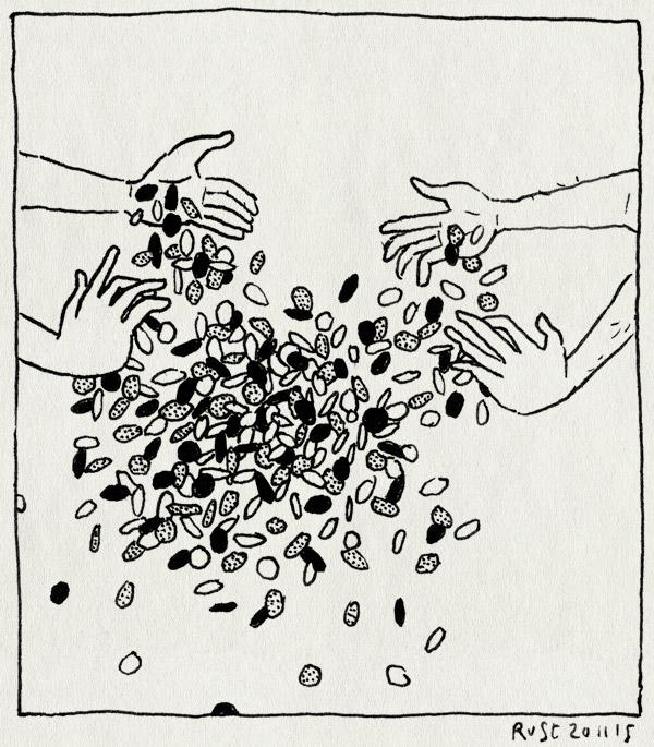 tekening 3101, boxer, confetti, feest, strooien