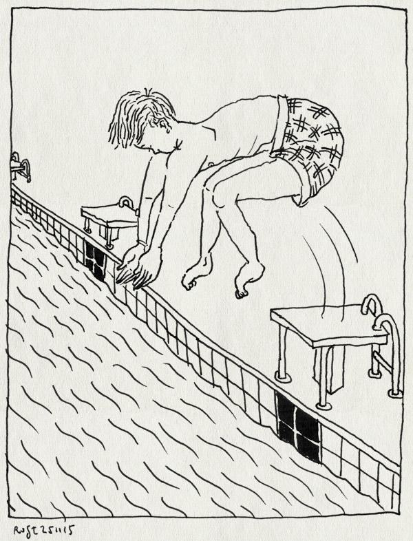tekening 3106, duiken, midas, mirandabad, water, zwembad, zwemles