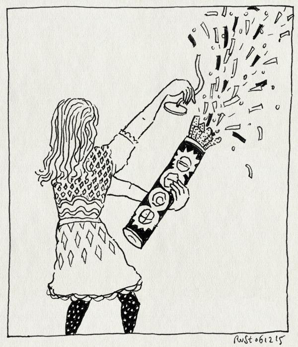 tekening 3117, alwine, bruisballen, confetti, kanon, lush, sinterklaas, snippers