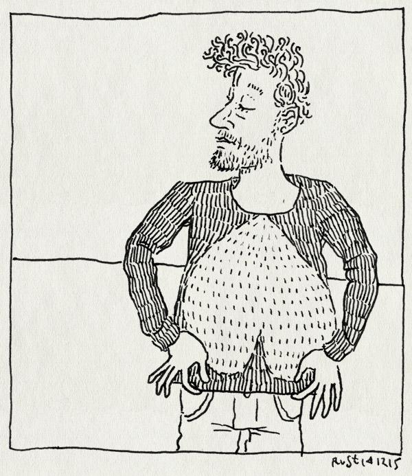 tekening 3125, gebreid, hart, idee, omgekeerd, trui
