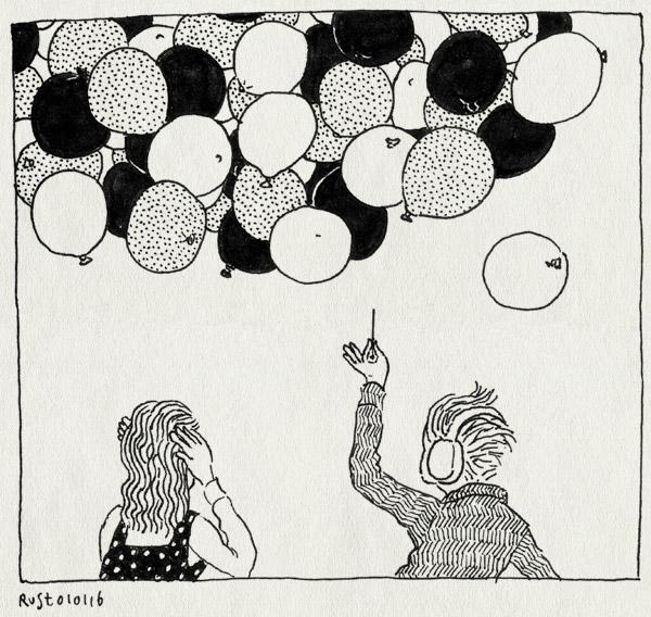 tekening 3143, alwine, ballonnen, gehoorbescherming, midas, nbe, nederlands blazers ensemble, nieuwjaarsconcert, speld