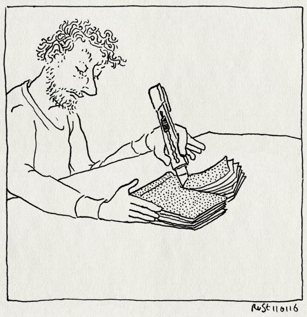 tekening 3153, boek, doorsnijden, fwf, half, mes, publicatie, snijden, wellmade, werk