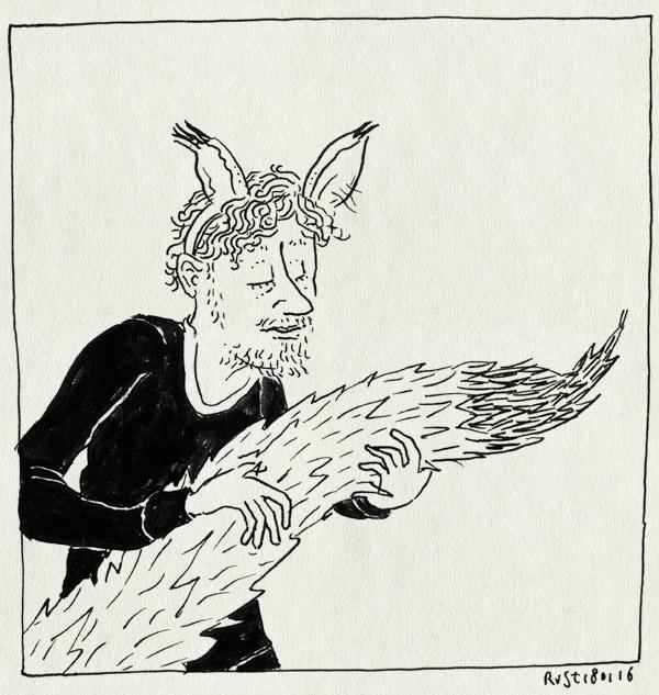 tekening 3160, diadeem, geboortekaartje, staart, stops, wolf