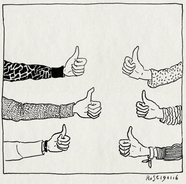 tekening 3161, alba, annouk, berlijn, berlin, duim, duim omhoog, end presentation, end publicatie, sophie, thumbs