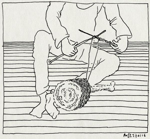 tekening 3169, amsterdam, bout, breien, club geluk, pecha kucha, radion, vlees