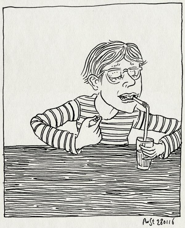 tekening 3170, fietsenrek, handig, kies, limonade, midas, rietje, wisselen