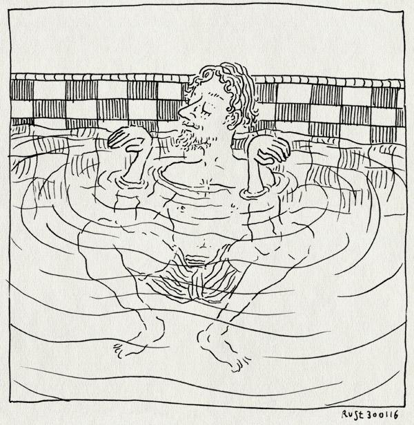 tekening 3172, alwine, draaibad, krab, krabbengang, meneer krab, midas, spelen, vrij zwemmen, water, zwemmen