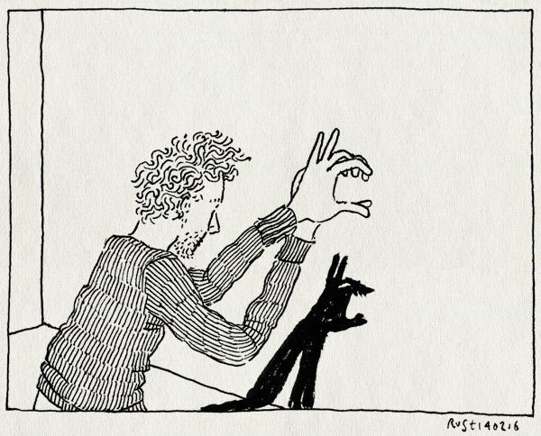tekening 3187, de schaduw van mijn moeder, duplex, ellen deckwitz, hand, handen, monster, schaduwen, schaduwfiguren, strip