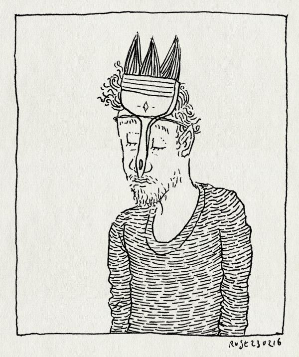 tekening 3196, buro rust, koninklijk paleis amsterdam, kpvsk, kroon, kwast, paleis, penseel, werk