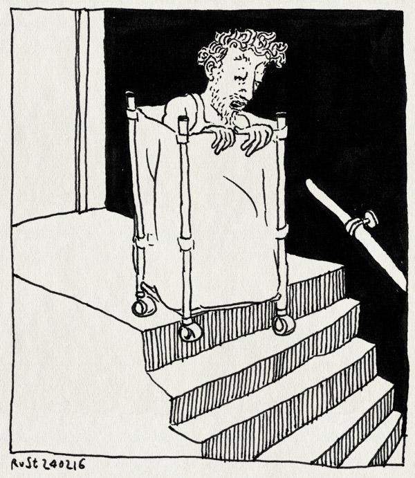 tekening 3197, ikea, jackass, lelijk, trap wohoo, vervangen, wasmand, weg, wieltjes