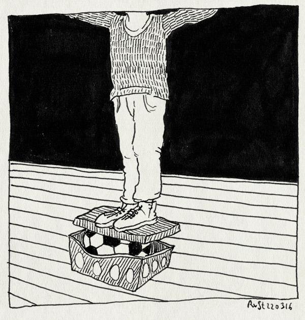 tekening 3224, midas, paasdoos, pasen, proppen, schoenendoos, school, voetbal