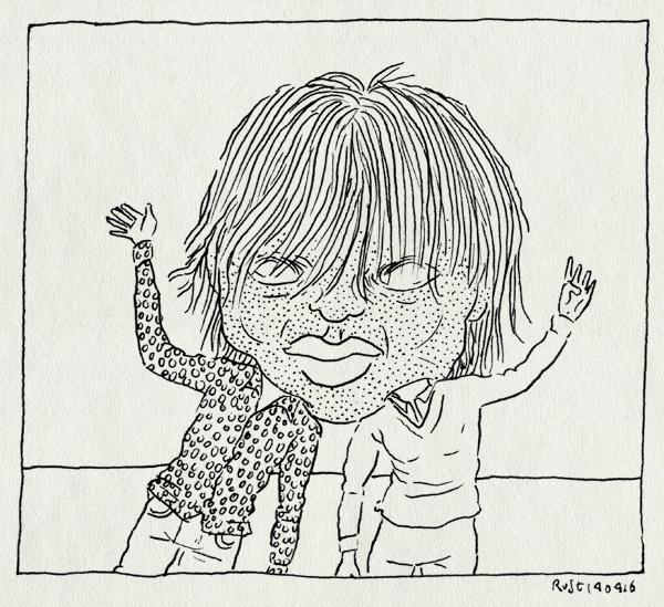 tekening 3247, bellevue, groot hoofd, hoofd, jeannette, masker, pop arts festival, voorpret