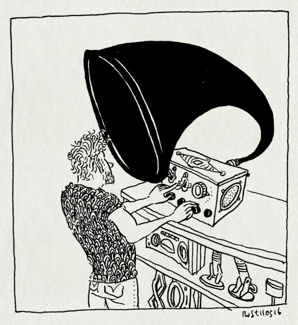tekening 3274, archief, beeld en geluid, depot, hilversum, idzerda, philips, radio, toeter