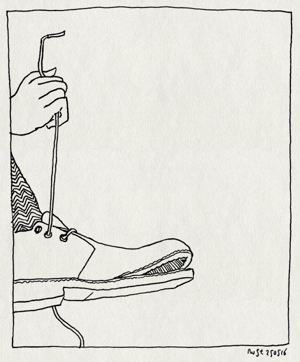tekening 3288, losse zool, schoen, stuk, veter